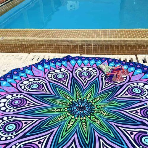 Manta Mandala azul GP Diseño 1