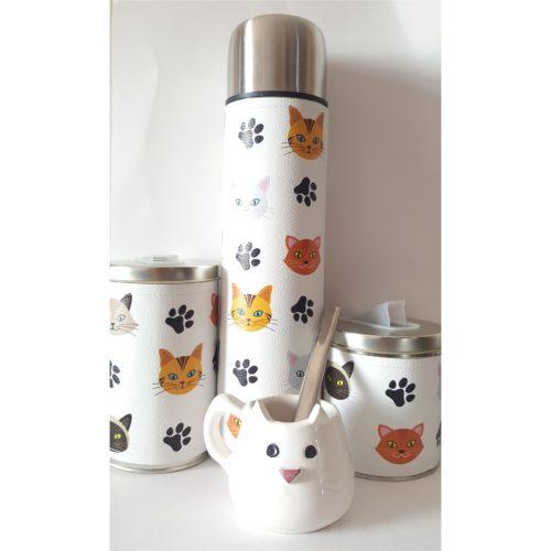 Set Gatitos con mate de cerámica GP Diseño 2