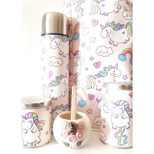 set unicornios con mate ceramica GP Diseño 1