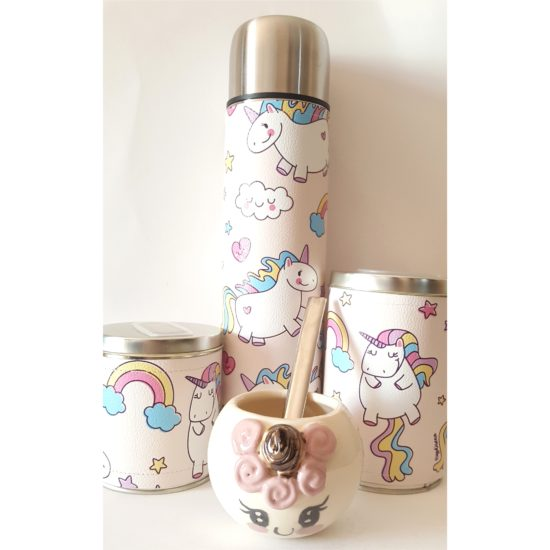 Set unicornios con mate ceramica GP Diseño 2