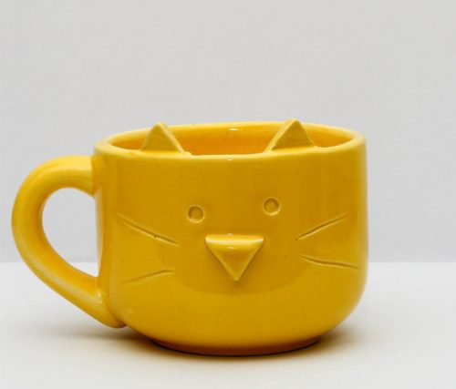 tazon gatito amarillo GP Diseño