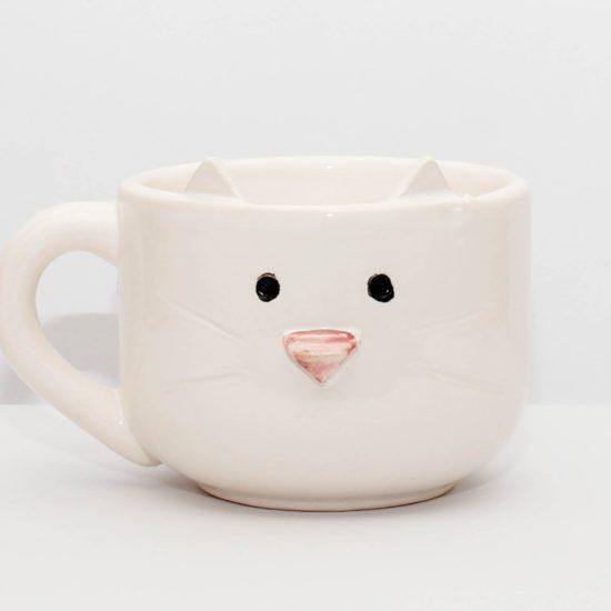 tazon gatito blanco GP Diseño