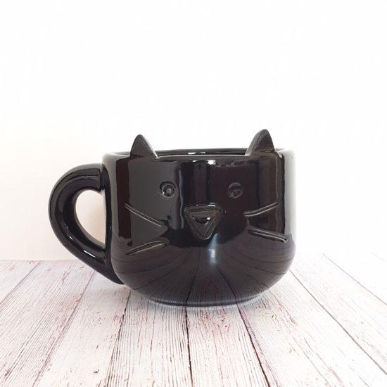 Tazon gatito negro GP Diseño