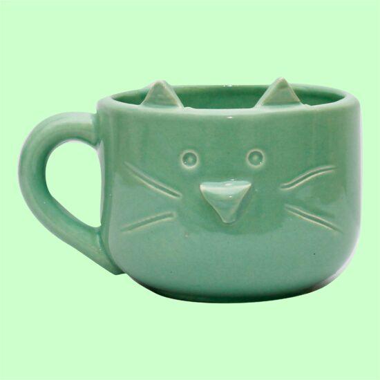 Tazon gatito verde GP Diseño 1