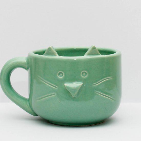 Tazon gatito verde GP Diseño