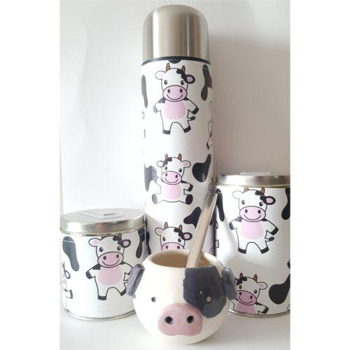 Set vaquitas con mate cerámica GP Diseño