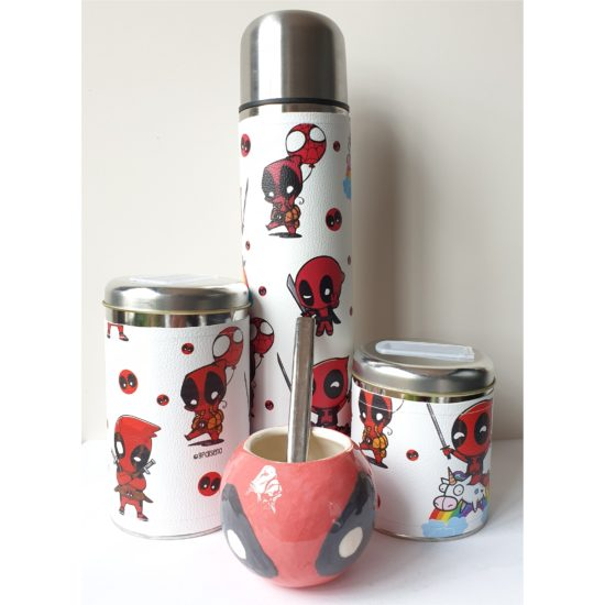 Set Deadpool con mate cerámica GP Diseño