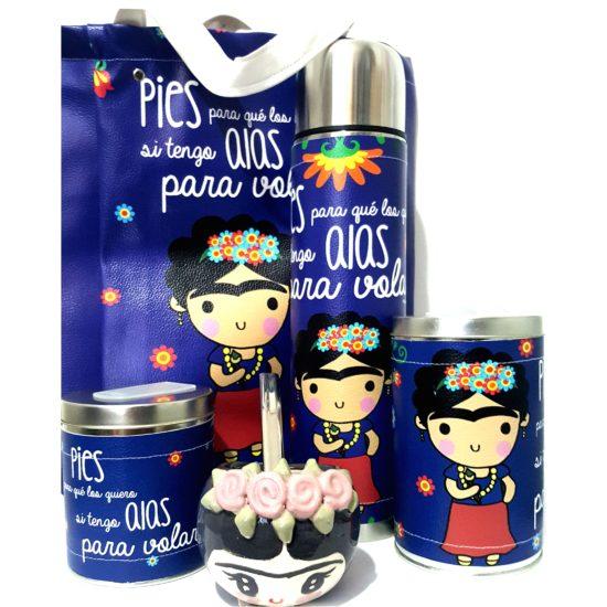 Set Frida con bolso y mate Cerámica GP Diseño