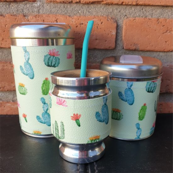 Par de latas chanchito + mate GP Diseño 1