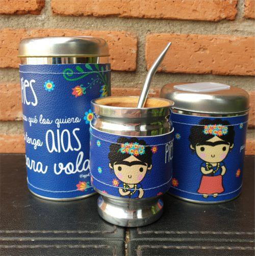 Par de latas Frida + mate GP Diseño