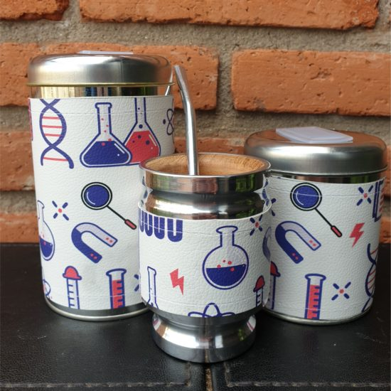 Par de latas Química + mate GP Diseño