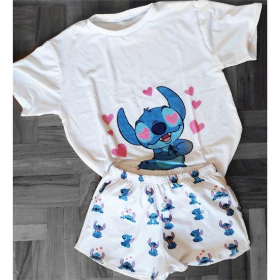 Pijama Stitch corto remera GP Diseño