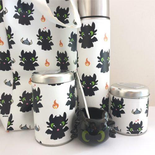 Set matero Chimuelo +mate ceramica+bolso GP Diseño