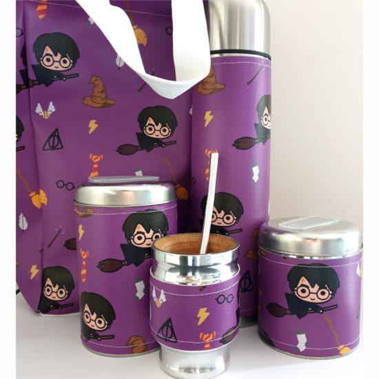 Set Matero Harry Violeta con bolso GP Diseño