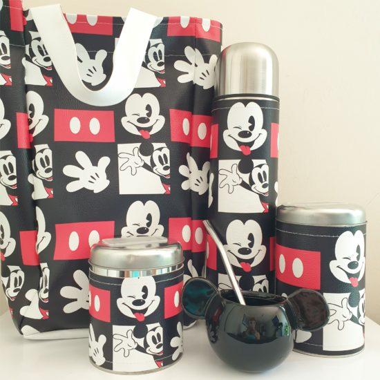Set matero Mickey mate cerámica+bolso GP Diseño